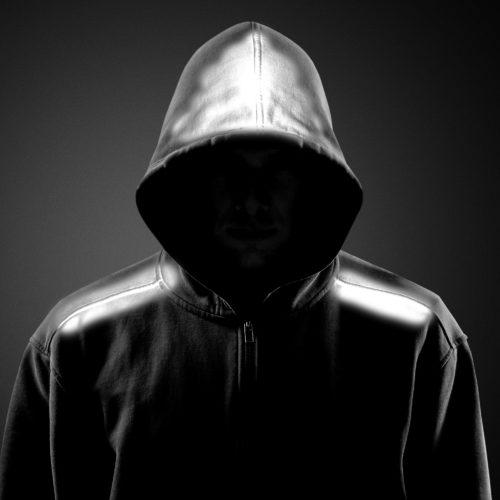 Hooded gangster.